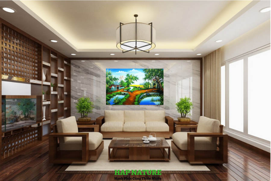 tranh phong canh que huong nhip song que sd0095 khung canh4